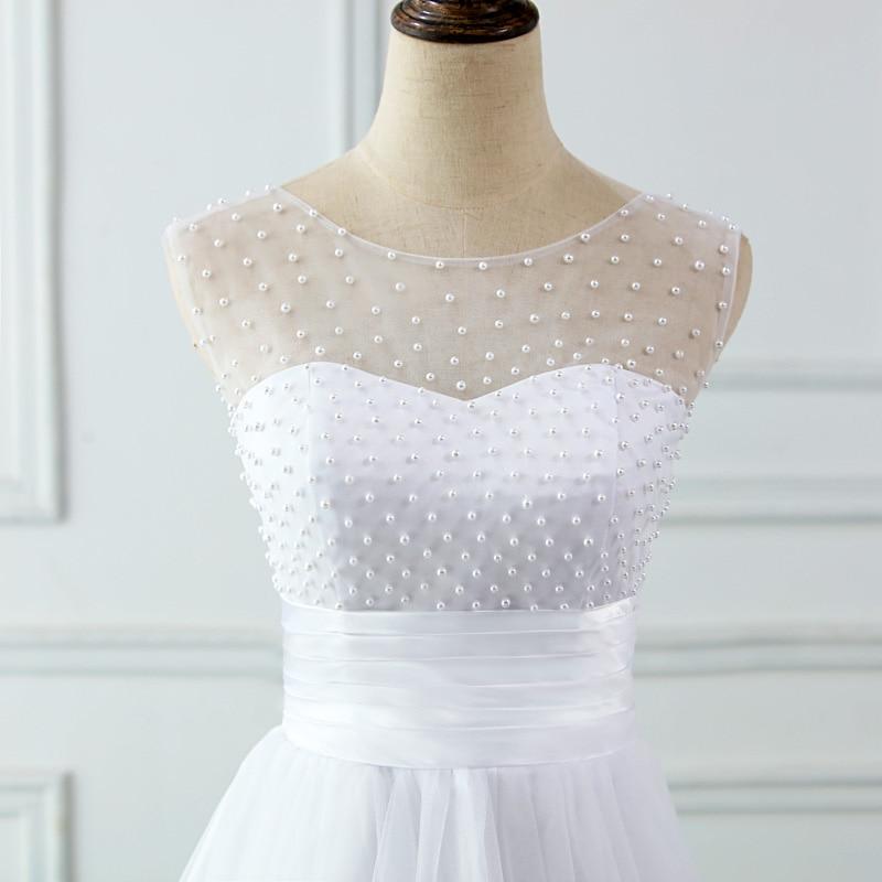 JIERUIZE vestidos de novia Mežģīņu aplikācijas Pērles īsās - Kāzu kleitas - Foto 5