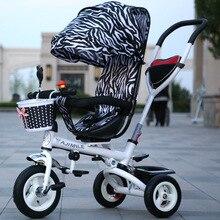 Bébé poussette 3 en 1 Pliant enfants tricycles vélos gonflable bébé chariots bébé vélo poussette livraison gratuite à La Russie