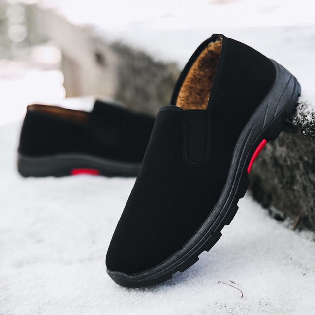 2018  Fashion Winter Men's Boots Middle-aged Snow Boots Wear Resistant Antislip Ankle Boots Warm Working Boot Men Casual Shoes