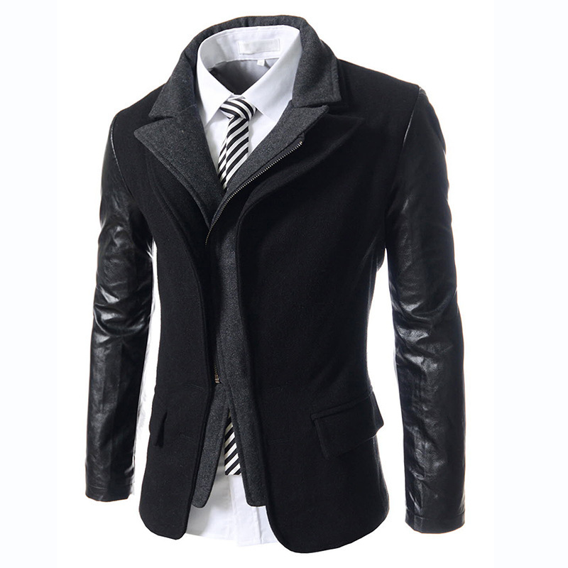 Aliexpress.com : Buy Wool Coats Men Patchowork Casual Gothic ...