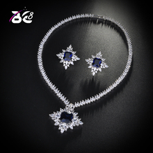 Be 8  Brilliant Cubic Zirconia Blue Dubai Bridal Jewelry Sets for Women Wedding Accessories Fashion Jewelry Gifts S165