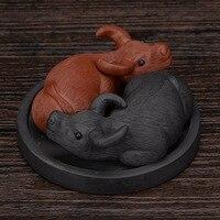 Bovini tè Da Compagnia Ornamenti Casa Creativa Per L'universo Creativo di Ceramica Bestiame Tè Pet Decorazione Desktop di Regali Aziendali S $