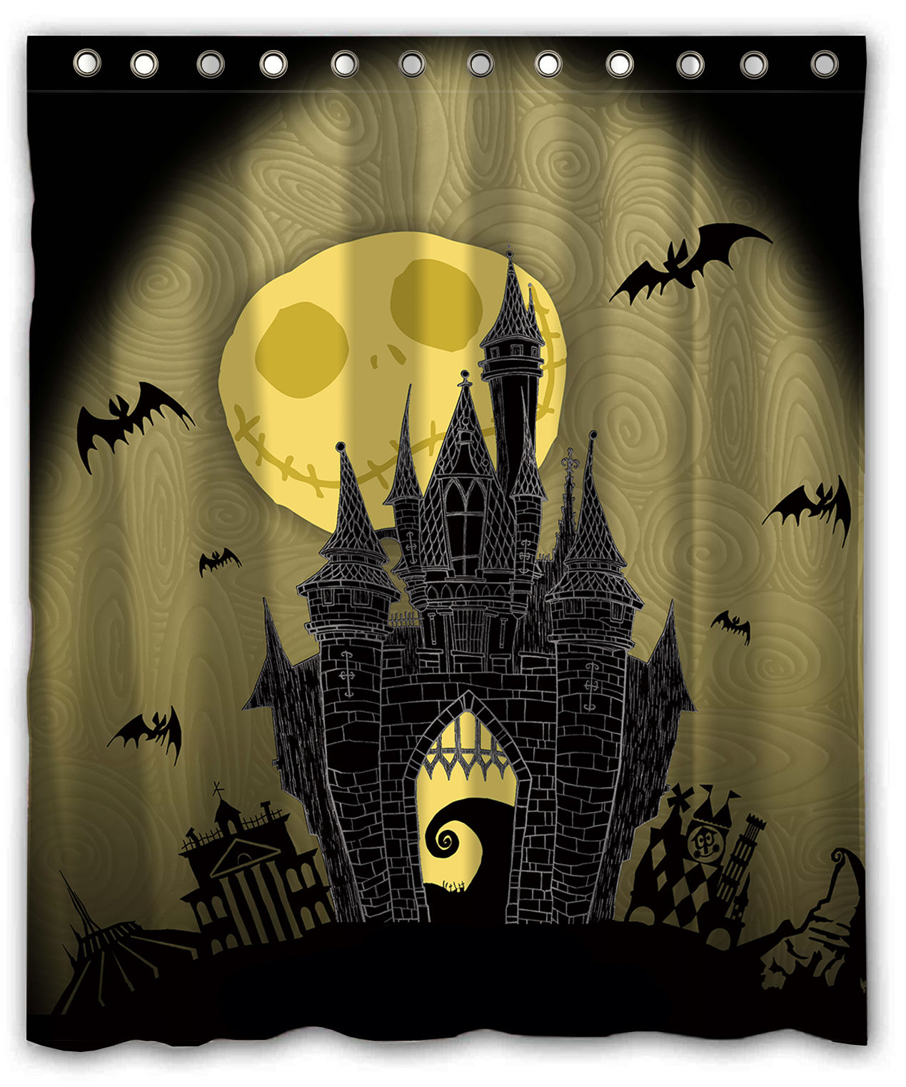 THE NIGHTMARE BEFORE CHRISTMAS Custom Waterproof Shower Curtain 60 X 72 Free Shipping Bathroom Decor In Curtains From Home Garden On