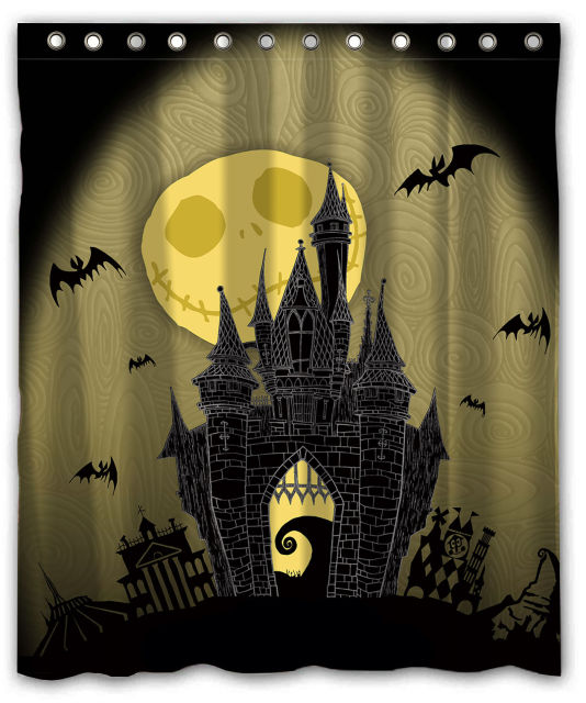 the nightmare before christmas custom waterproof shower curtain 60 x 72 free shipping bathroom - Nightmare Before Christmas Bathroom Decor