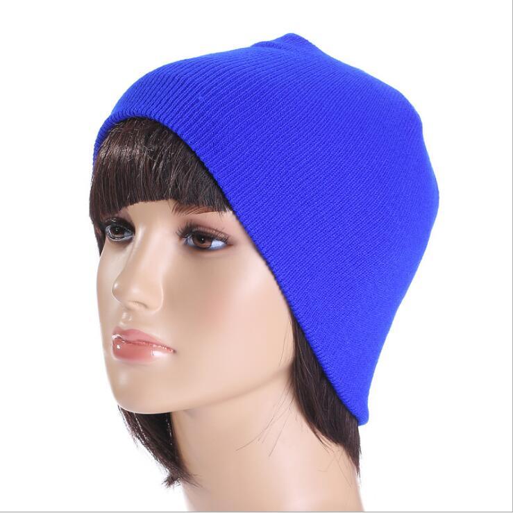 Hot Sale Women Men Unisex Knitted Winter Cap Casual Beanies Solid Color Hip-hop Snap Slouch Skullies Bonnet beanie Hat