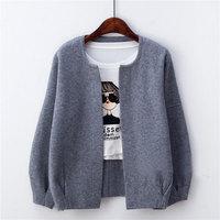 Autumn Knitting Elegant Short Cardigan Sweater Women 6 Colors Long Sleeve Outerwear Sweater Cardigan Women Plus
