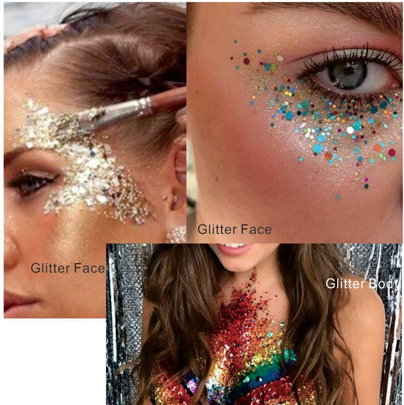 Gl23 One Pack Of Shiny Firefly Fun Eye Glitter Face Body Sequins Decorations Festival Body Dance Makeup Body Art Makeup Body Art Body Artmakeup Art Aliexpress