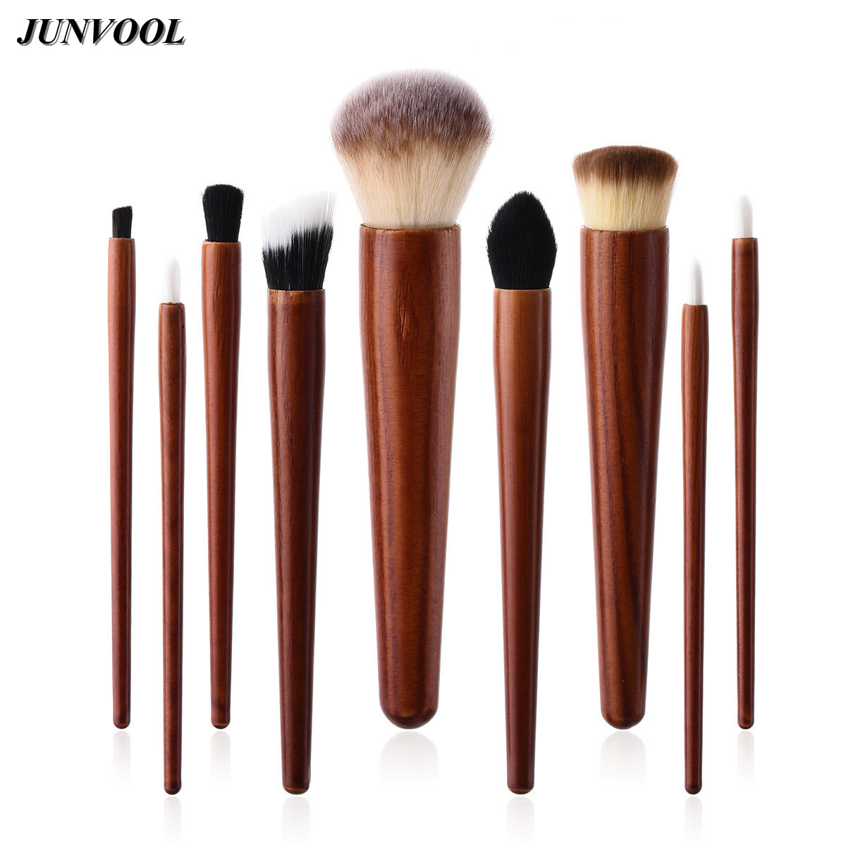 9Pcs/set Cosmetic Makeup Brushes Wood Handle Foundation Power Eye Shadow Brow Concealer Blending Contour Beauty Brush Tools Kits ноутбук hp 15 bw536ur 2gf36ea