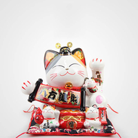 Creative Big Lucky Cat Money Bank Craft Cute Coin Bank Miniatures Kids Toy Home Checkout Counter Decor Accessories Birthday Gift