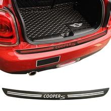 5D Carbon Fiber Vinyl Decal Stickers Car Rear Bumper Trunk Load Edge Protector Guard Trim for Mini Cooper S JCW R56 Cabrio R57 цена