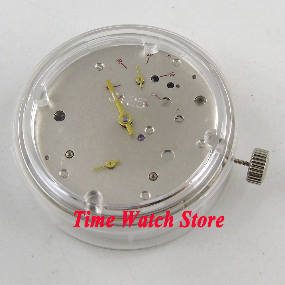 цена на PARNIS ST2542 power reserve classic small second hand mechanical automatic watch movement M18