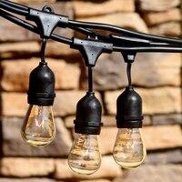 MengJay Waterproof 10m 33ft 10 Heads E27 40W String Light Pendant Lamp For Garden Porches Pergola