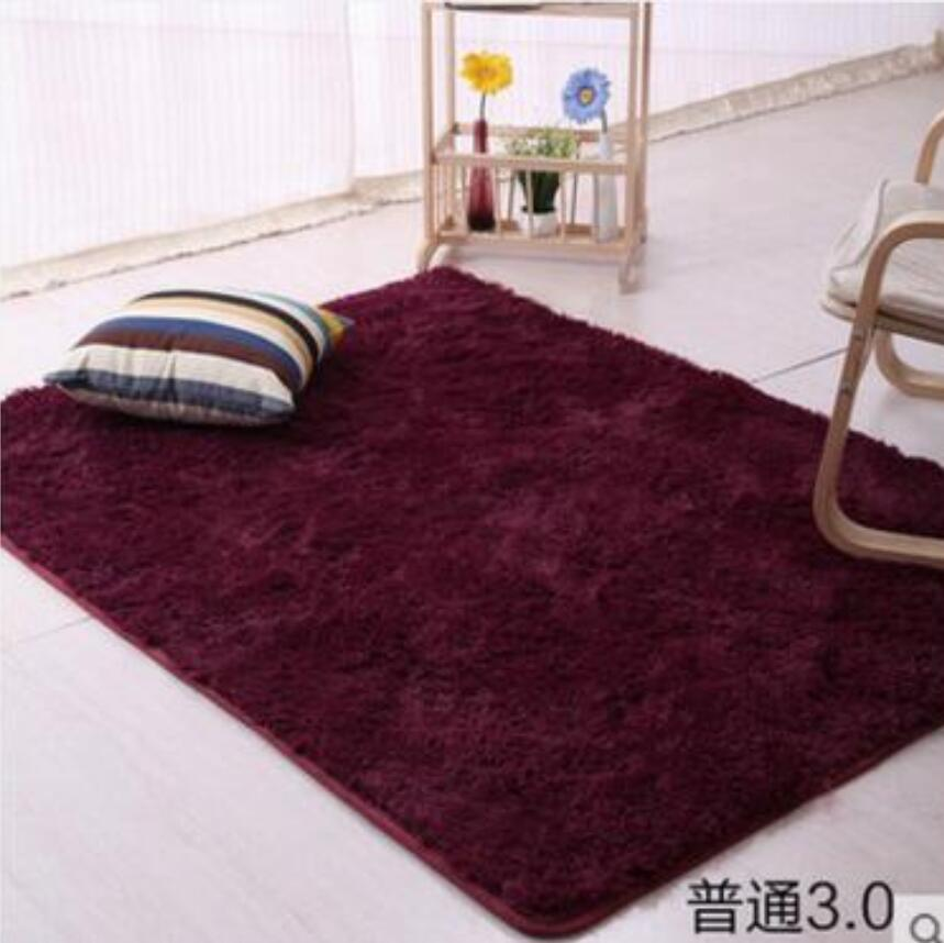160*200cm Large Size Fluffy Rugs Anti Skid Shaggy Area Rug Dining Room  Carpet