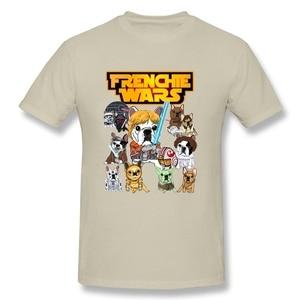 Новый стиль FRENCHIE WARS забавная футболка для отдыха мужская футболка с круглым вырезом из хлопка 3XL с коротким рукавом Звездные войны Забавные футболки