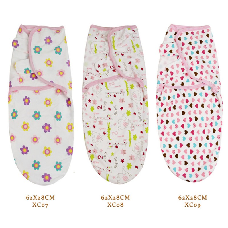 62*28CM Newborn Baby Swaddle Wrap Blanket Cotton Soft Infant Products Baby Swaddling Wrap Blanket Sleepsack 2018 Multi-Colors