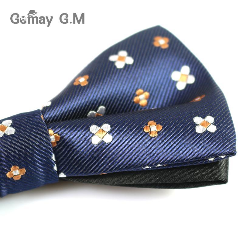 Kişilər üçün Yeni Polyester Bowtie Moda Təsadüfi Floral - Geyim aksesuarları - Fotoqrafiya 6