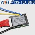 3.6 V/3.7 V celular 13 S 48 V 15A BMS Utiliza para 48 V 10ah 12ah 15ah batería 15A continua 50A pico de descarga Con el equilibrio función
