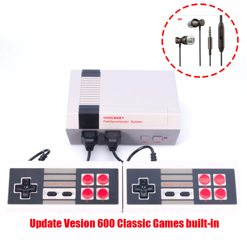 coolbaby 600 Different Games Retro Childhood Mini TV Handheld Video Game Console For Nes Games PAL