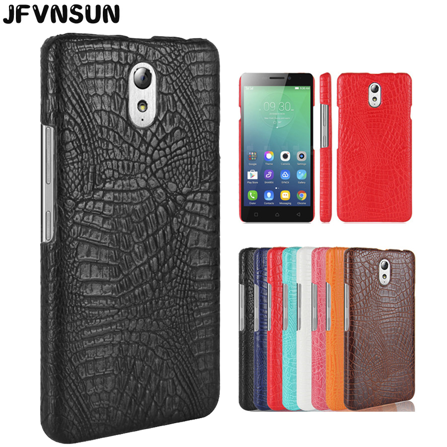huge discount 45075 556ef For Lenovo Vibe P1m P1ma40 Case Retro Crocodile Leather Hard Case for  Lenovo Vibe P1m Cover HOT Full Protective Shell Back Cases