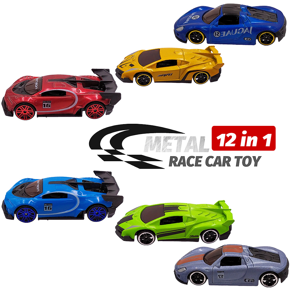 Image 2 - 12 Metal Toy Cars 12in1 Super Value Alloy Diecast Toy Vehicles Model Truck Race Car Play Set 12 Mini Cars for Boys Gift for Kids-in Diecasts & Toy Vehicles from Toys & Hobbies