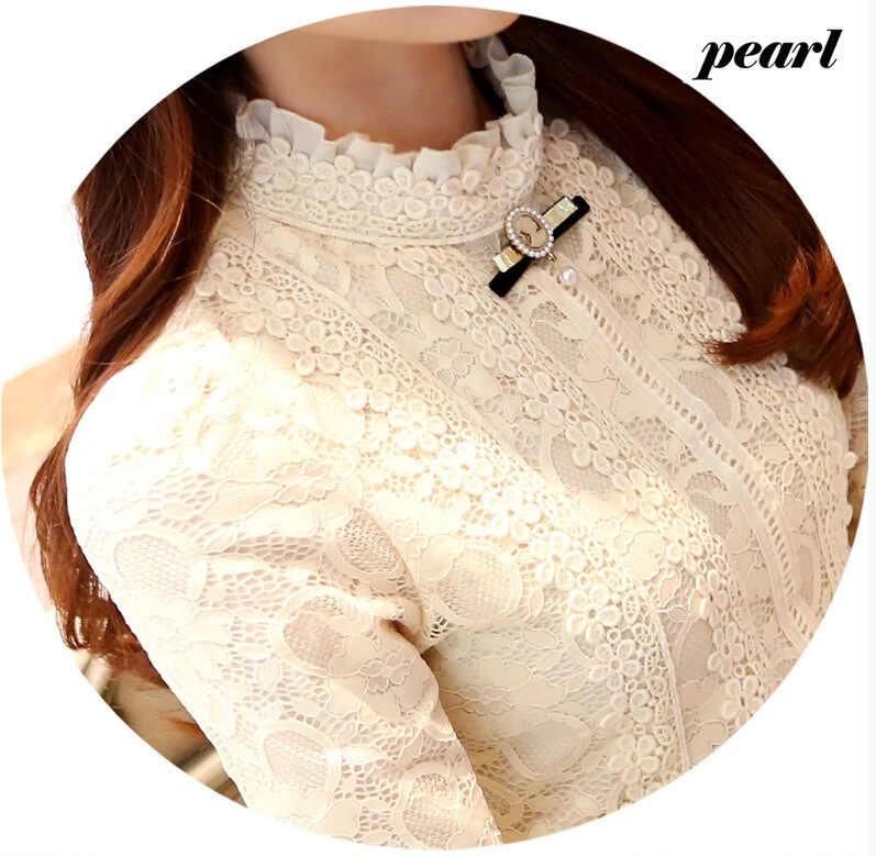 2019 נשים חולצות וחולצות נשים בגדי אופנה Blusas Femininas חולצות נשים חולצות תחרה חולצה סרוגה חולצה בגדי 999