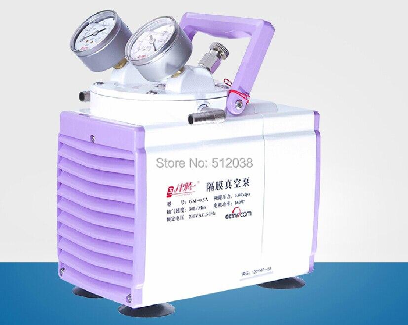 New XM-0.50 Diaphragm Lab Vacuum Pump Oil Free 30 L/min 110V / 220V