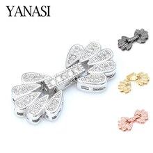 Фермуар Аксессуары для ювелирных изделий циркон цветок застежки и пряжки для браслетов ожерелья и ювелирные изделия фурнитура для бижутерии