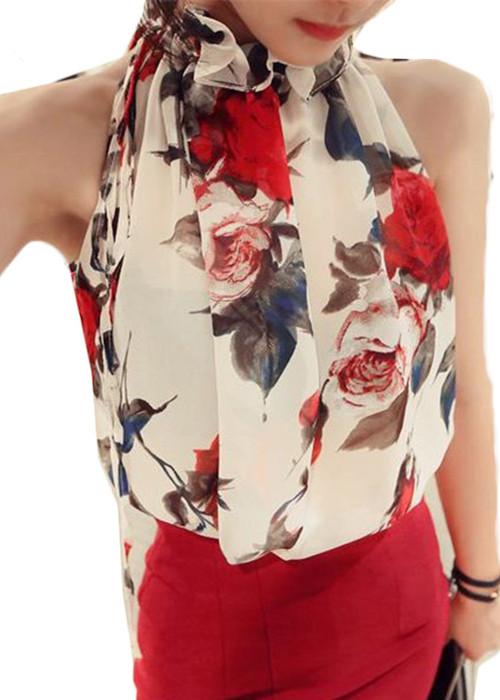 HTB1N9dkNVXXXXbGaXXXq6xXFXXX5 - New Fashion Women Sleeveless Chiffon Floral Print Blouses Tops Shirt