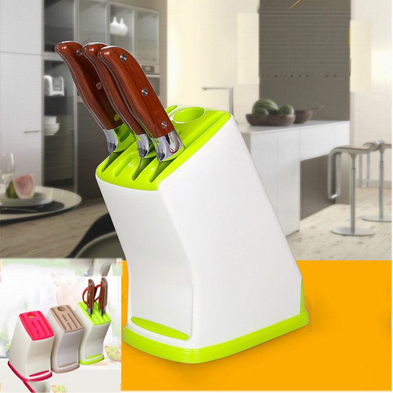 Stand for Knives Tool Holder Multifunctional Plastic Tool Holder Knife Block Knife Stand Sooktops Tube Shelf in Blocks Roll Bags from Home Garden