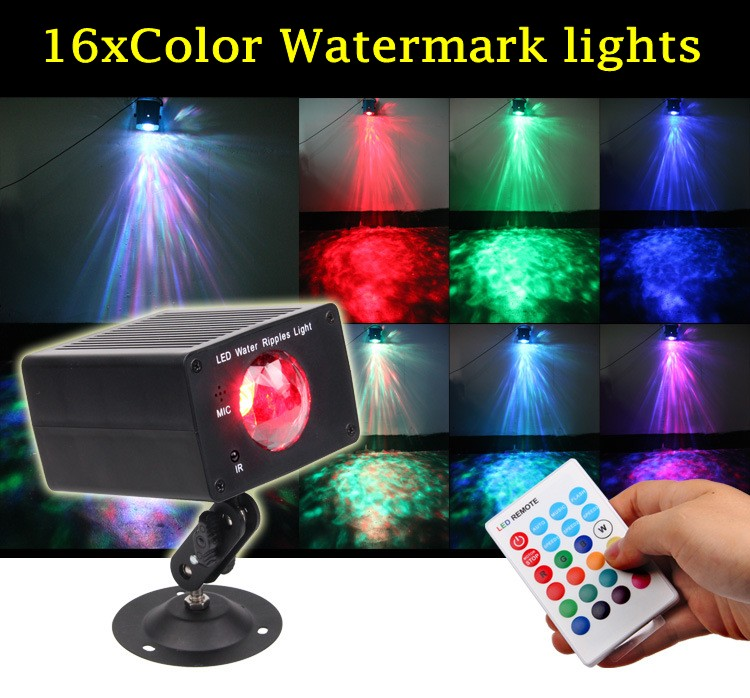 Remote Control 16 Colors RGB LED Water lines Stage Light Lamp Disco Party Laser Light Auto Sound Control Christmas KTV SWD-16Remote Control 16 Colors RGB LED Water lines Stage Light Lamp Disco Party Laser Light Auto Sound Control Christmas KTV SWD-16