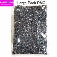 ss4 ss6 ss8 ss10 ss12 ss16 ss20 ss30 Clear Crystal White Iron On Hot Fix Rhinestones Wholesale DMC Hotfix Rhinestone ZB001