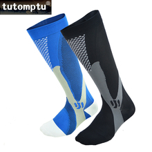 Tutomptu 1 Pairs Lycra Professional Compression Socks Sport Socks Football Soccer Socks For Men