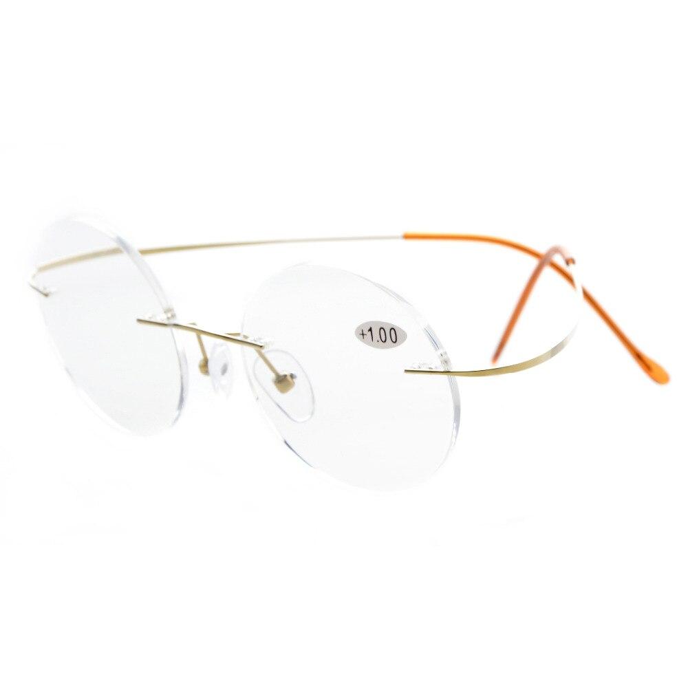 Titanio rimless Gafas para leer círculo lectores BN245-260 - TELOCHKI.ME