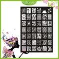1 Unids Nuevo Diseño BQAN Mariposas de Acero Inoxidable/la Serie de Flores/Imágenes de Las Estrellas Brillaban Nail Plate Estampación XY13
