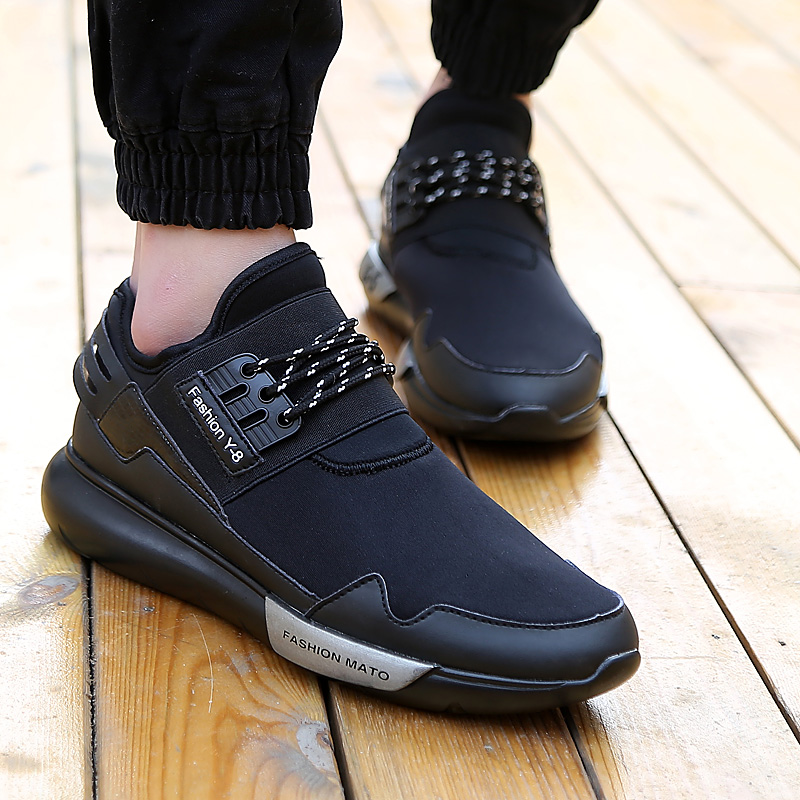 54555e37e97 Hot Spring new casual shoes y3 shoes male star with stretch lace shoes  waterproof shoes face-in Men s Casual Shoes from Shoes on Aliexpress.com