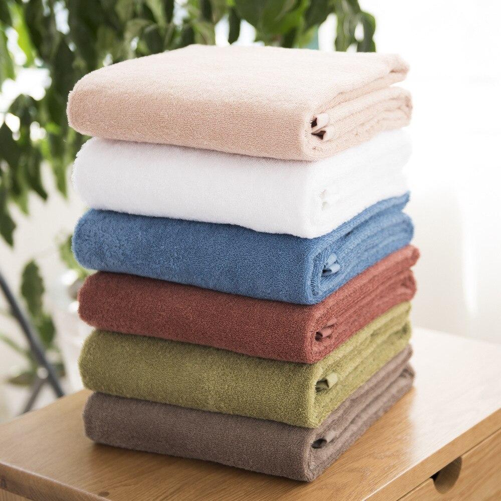2016 coton serviette de bain serviette de bain serviette trois ensemble classique plaine doux tissu sèche serviette