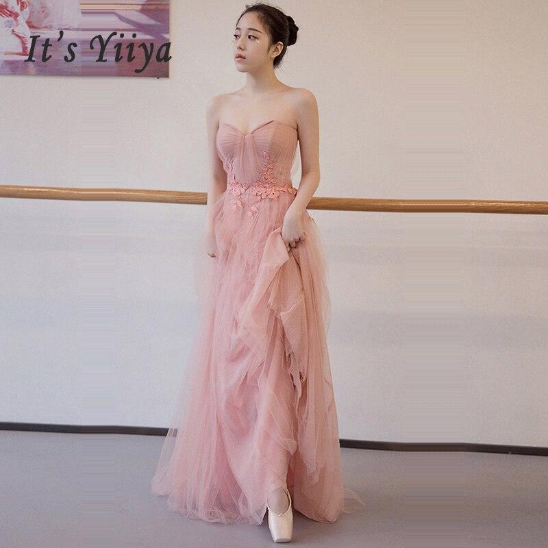 It's Yiiya Evening Dress Wrapped Chest Women Party Dresses Zipper Robe De Soiree 2019 Plus Size Sleeveless Formal Gowns E702