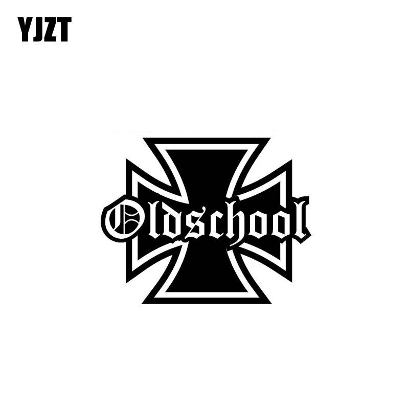 YJZT 13.8CM*11CM Old School Personality Vinyl Decal Truck Window Car Sticker Black Silver C10-01826
