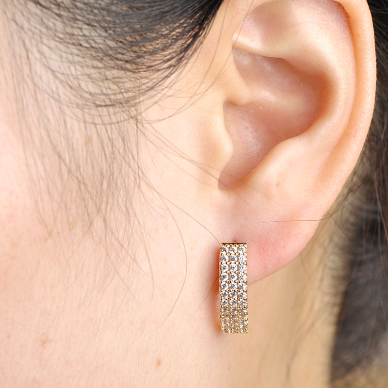 MECHOSEN Hot Jual Cubic Zirconia Stud Earrings Wanita Emas-warna - Perhiasan fashion - Foto 6