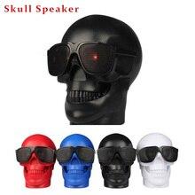 Skull Bentuk Serbaguna Sunglass Tengkorak Speaker Subwoofer Bluetooth  Speaker Nirkabel Portabel NFC Speaker Keras TF card player 81b0e6d7fc