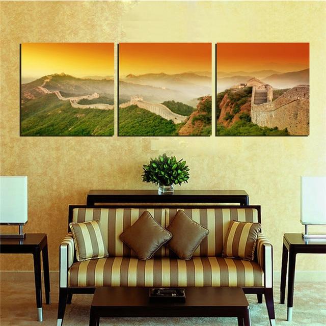 decoraci n del hogar pintura del arte chino famoso paisaje de la gran cuadros decorativos para. Black Bedroom Furniture Sets. Home Design Ideas