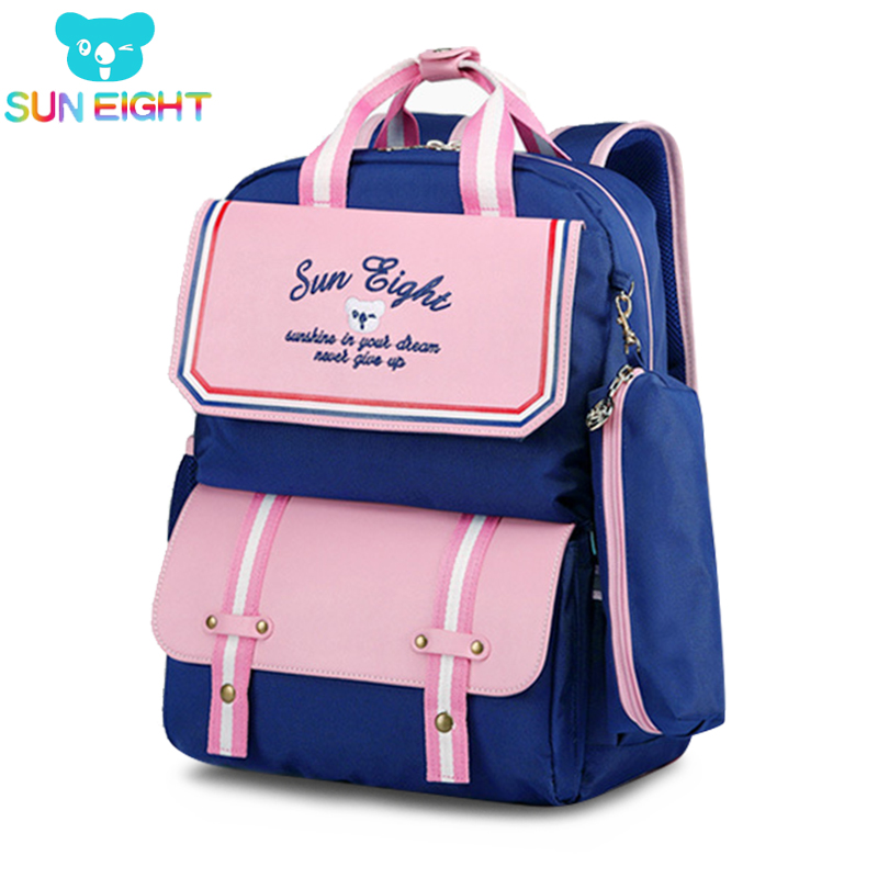 SUN EIGHT Orthopedic Back Girls School Bags Children's Backpacks Satchel School Backpack Kids School Bag