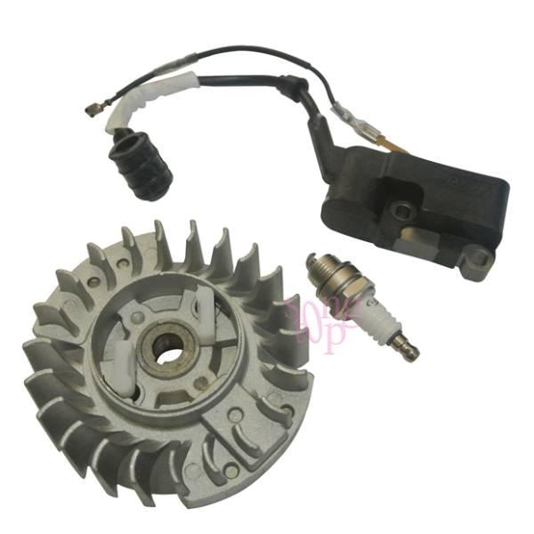 FLYWHEEL Spark Plug FIT CHINESE CHAINSAW 4500 5200 5800 52cc 58cc SILVERLINE