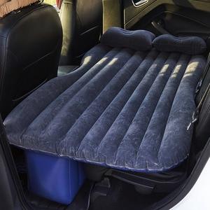 Image 1 - Надувная кровать для заднего сиденья автомобиля, ПВХ, надувная дорожная кровать, надувной матрас для кемпинга