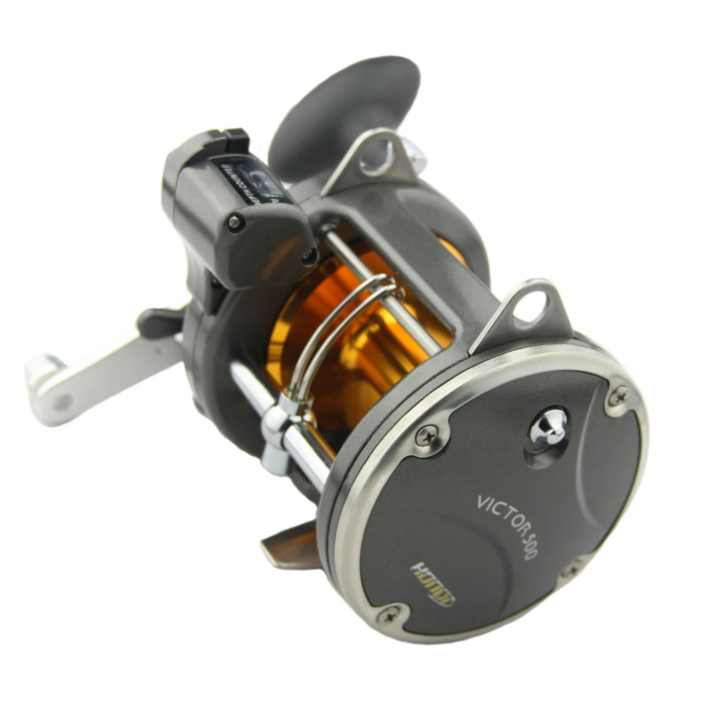 ФОТО HIGREE Trolling Fishing Reels Boat Reels with Line Depth Counter 8BB Right Hand