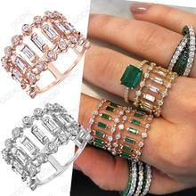 Роскошные штабелируемые шикарные кольца для женщин godki вечность