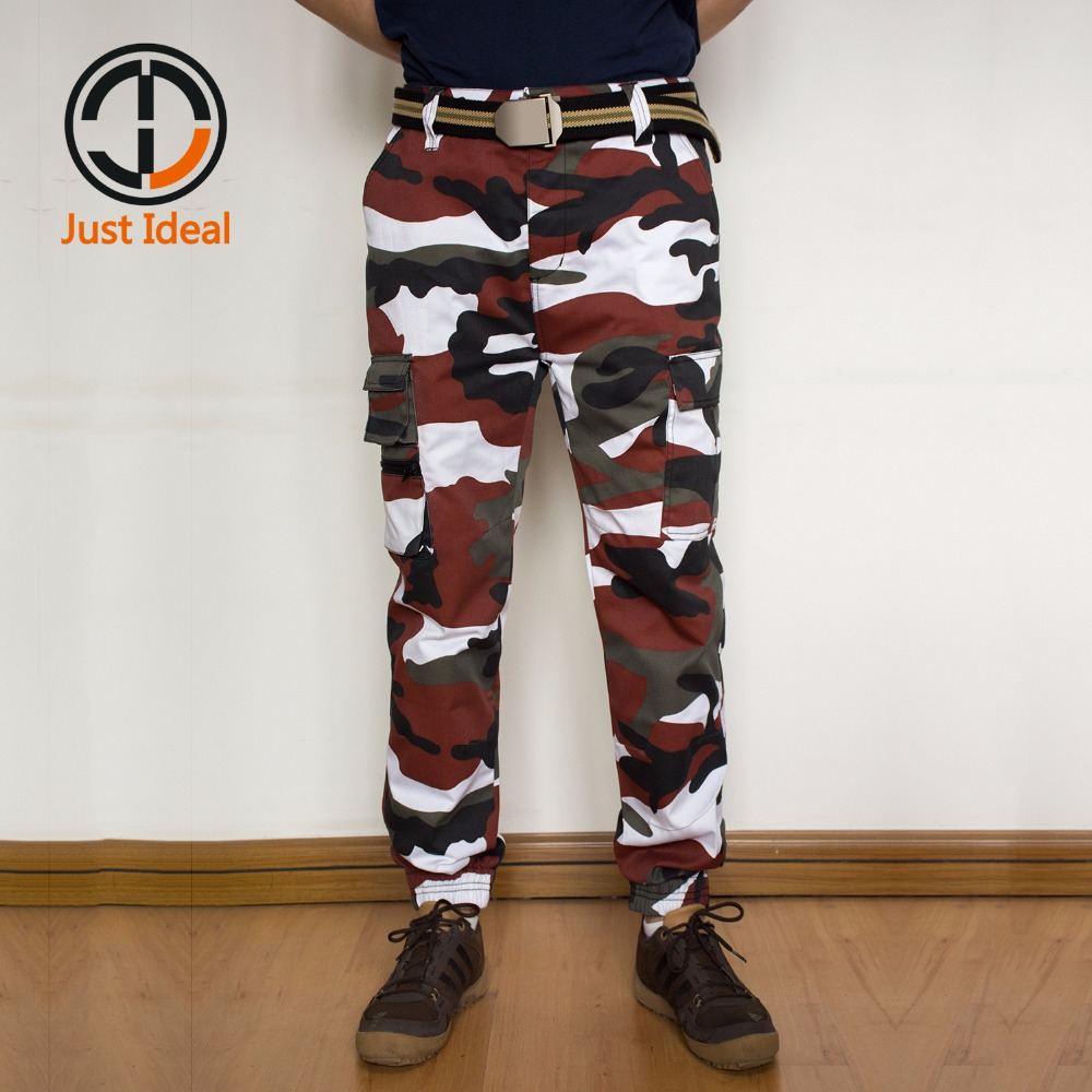 Men Camouflage Pants Fashion Trousers Casual Beam Cargo Pants Military Style Harem Pants Men Brand Clothing Plus Size ID813