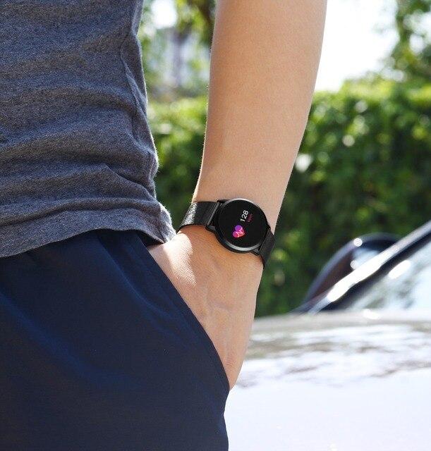 Rundoing Q8 Smart Watch OLED Color Screen Smartwatch women Fashion Fitness Tracker Heart Rate monitor 1