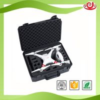Tricases Shanghai factory waterproof plastic carrying professional case with foam for dji phantom4