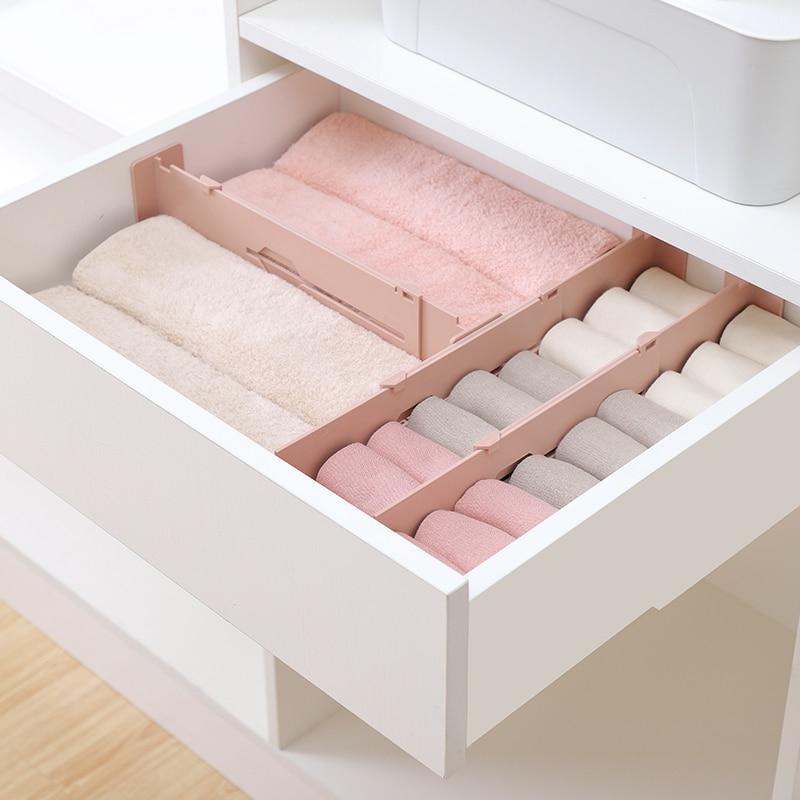 Rétractable réglable extensible tiroir diviseur organisateur stockage en plastique armoire tiroir séparateur grille de séparation pour le ménage